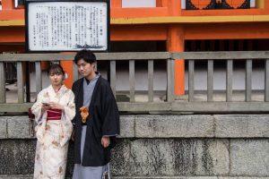 Zwei Einheimische in Japan