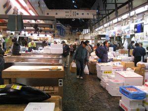 Auf dem Fischmarkt in Tokio