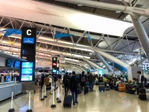 Flughafenhalle bei der Japan Einreise