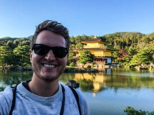 Selfie vor dem goldenen Pavillon Kyoto