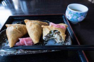 Inari Sushi auf Teller