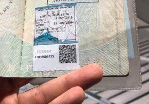 Japan Visum Aufenthaltsgenehmigung im Reisepass