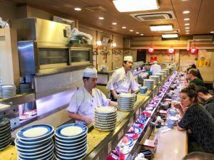 Im Running Sushi Restaurant in Japan
