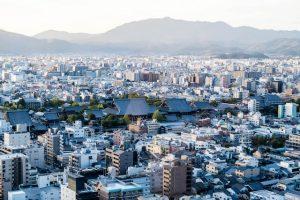 Aussicht auf Kyoto mit Packliste Japan