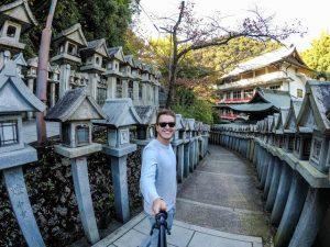 Selfie in der Mount Shigi Tempelanlage