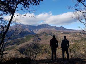 Landschaft und Berge in Nikko Japan