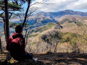 Nikko Japan Natur mit Person