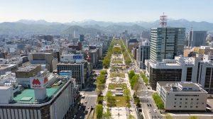 Aussicht auf Sapporo