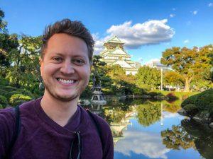 Selfie vor der Burg in Osaka Japan