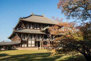 Todai-ji Tempel von außen in Nara Japan