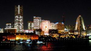 Skyline Yokohama bei Nacht
