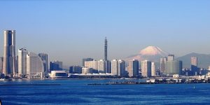 Blick auf Yokohama