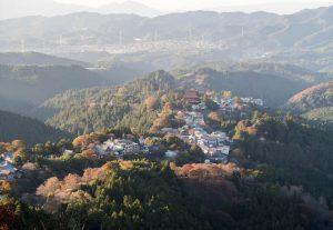 Blick auf die Landschaft um Yoshino