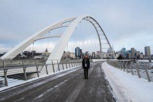 Walterdale Brücke in Edmonton Kanada