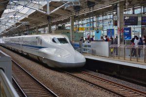 Japan Railways Bullet Train am Gleis