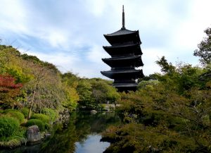 Toji Tempel Pagode und Park
