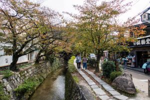 Philosophenweg am Kanal in Kyoto Japan