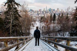 Treppen mit Blick auf Edmonton