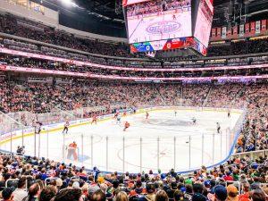 Eishockey Spiel in Edmonton kanada mit der Area
