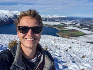 Selfie in Bergen mit Schnee