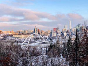 Skyline Edmonton Sonnenaufgang