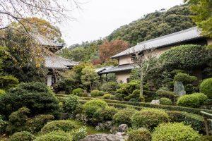Garten am Tempel in Kyoto