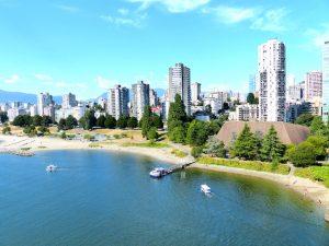Blick auf die Skyline Vancouver beim Kanada Backpacking