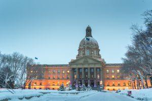 Legislature Building Alberta in Edmonton im Winter