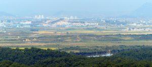 DMZ Aussicht auf Nordkorea Landschaft