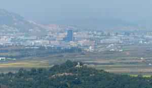 Blick auf Städte in Nordkorea