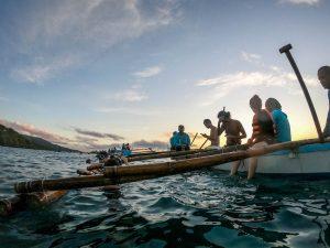 Boot vor der Küste von Oslob Cebu