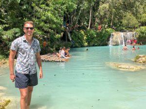 Die Cambugahay Falls auf Siquijor Philippinen