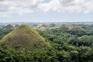 Hügelige Landschaft auf Bohol