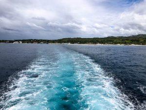 Blick von Fähre auf das Wasser
