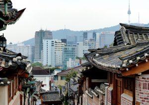 Traditionelle Häuser in Südkorea