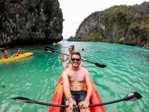 Kajak auf den Philippinen
