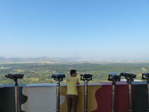 Aussicht vom Observatorium über die Grenze von Nordkorea