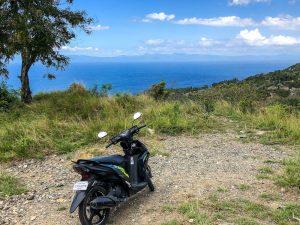 Roller an Aussichtspunkt zum Transport auf den Philippinen