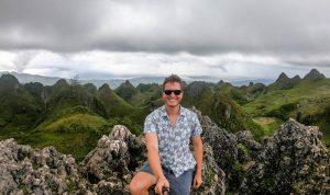 Selfie auf dem Osmena Peak in Cebu