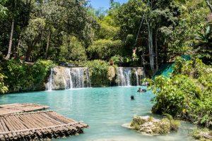Cambugahay Wasserfälle auf Siquijor Philippinen