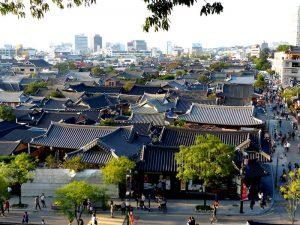 Panorama Blick auf Jeonju Südkorea