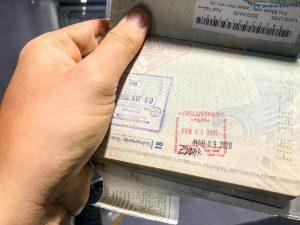 Reisepass Stempel Visum Philippinen 2020
