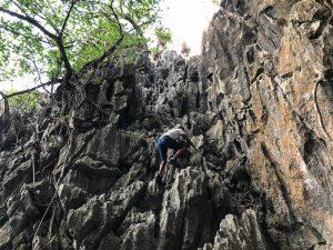 Steile Felsen im Dschungel