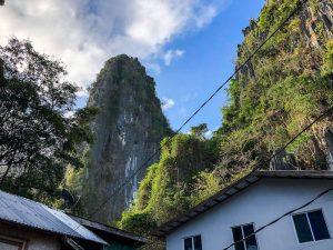 Der Taraw Felsen von unten