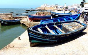 Boote am Ufer in Essaouira