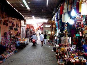 Souk Basar Straße Marrakeschs Medina