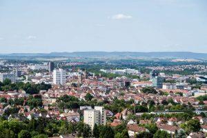 Panorama der Stadt Heilbronn