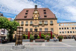 Das Rathaus als eine der Heilbronn Seheneswürdigkeiten