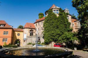 Blick auf Schloss Droßyig