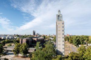 Blick auf Albinmüllerturm Magdeburg